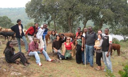 Girinka team with UBC students