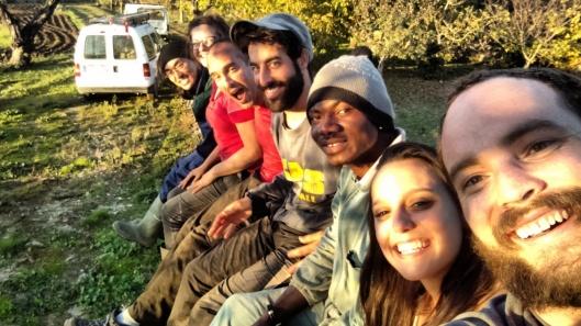 international olive dream team (from Korea, Germany, Canada, Nigeria, the USA and Italy)